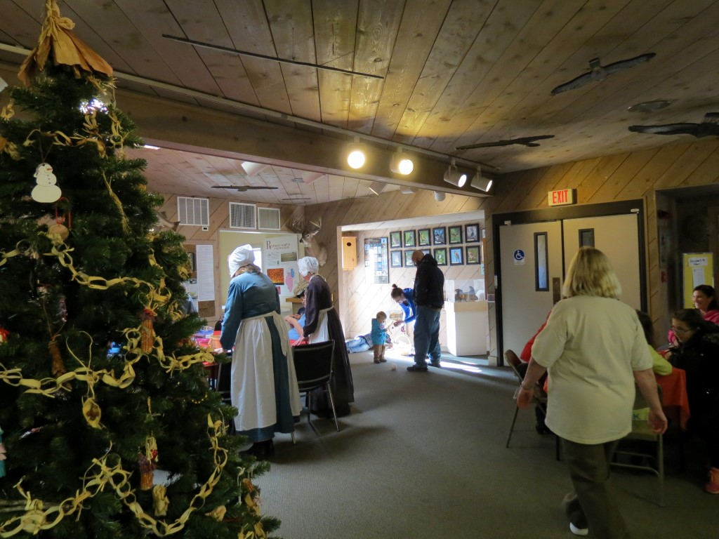 Photo of the lobby during the Holiday Open House.